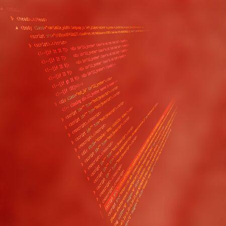 source: Source code technology background, illustration Stock Photo