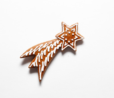 comet: Falling star, comet concept. Christmas.  Cookies from Gingerbread