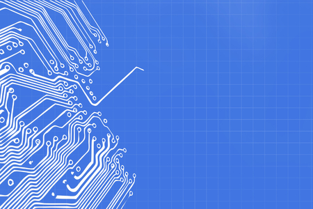 processor: Microchip background - close-up of electronic circuit board with processor