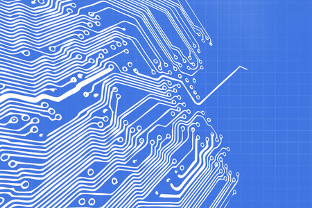 electronic board: Microchip background - close-up of electronic circuit board with processor