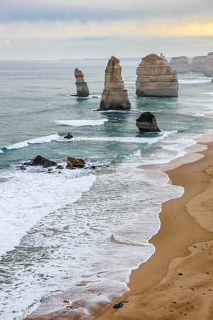 apostles: Famous beautiful 12 apostles in Australia from above