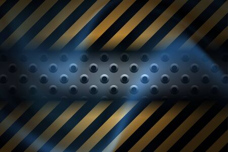 Technology Elements Background in yellow and blue