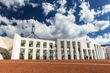 Australian national parliament house in Canberra, Australia Stock Photo