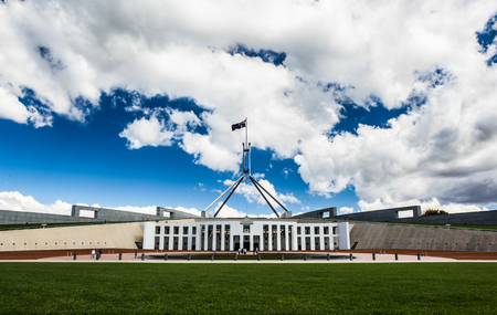 Australian national parliament house in Canberra, Australia