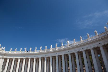 Berühmten Petersplatz im Vatikan, eine Luftaufnahme der Stadt Rom, Italien. Standard-Bild - 79485506