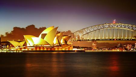 Sydney Harbour with Opera House and Bridge in Australia