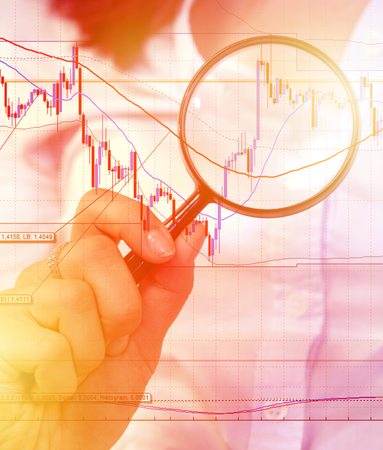 Commodity trading concept with businesswoman
