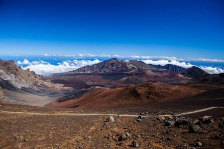 Colors of massive volcanic crater at Haleakala National Park on the island of Maui, Hawaii. Reklamní fotografie