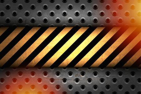 ray of light: Technology background with iron plate and strips