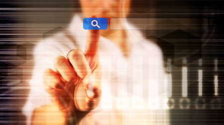 SEO - Search Engine Optimisation, web research concept Stock Photo