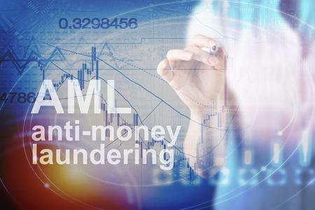Anti Money Laundering Concept image of Business Acronym AML (Anti Money Laundering) Reklamní fotografie - 90090189