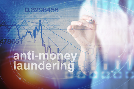 Anti Money Laundering Concept image of Business Acronym AML (Anti Money Laundering) Imagens - 91614275
