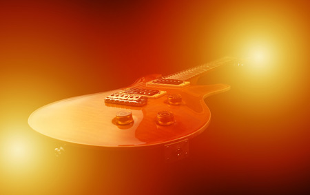 Electric guitar isolated in light Stock Photo