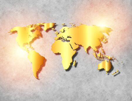 Gold world map on black wall stock photo picture and royalty free abstract world map background on wall with gold texture photo gumiabroncs Images