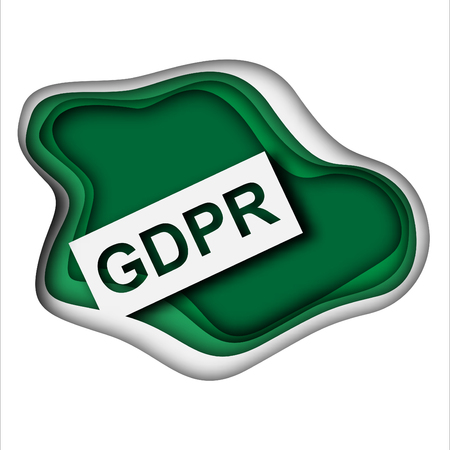 Concept of GRPR - general data protection regulation, abstract background with paper aer