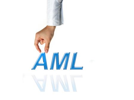 Anti Money Laundering Concept image of Business Acronym AML (Anti Money Laundering) Stock Photo