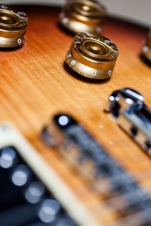 Vintage Heavy Relic Electric Guitar Close up Stok Fotoğraf