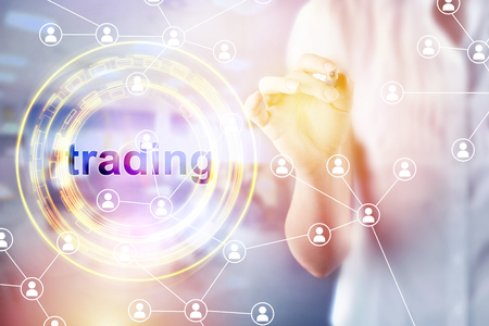 Commodity forex trading technical analysis concept Reklamní fotografie