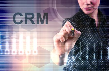 CRM - Customer relationship management concept. Customer service and relationship management business tools. Stok Fotoğraf