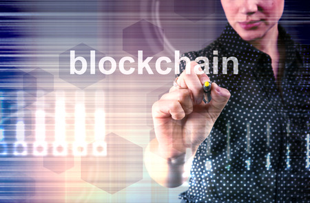Blockchain technology concept. Base for cryptocurrency market