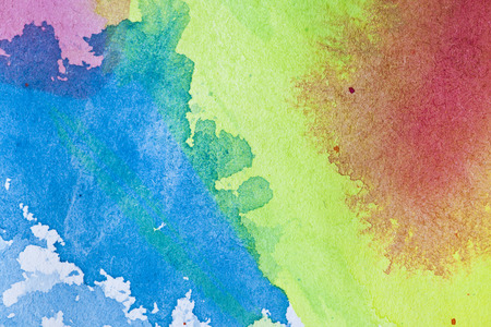 Multicolor hand drawn watercolor background for backgrounds or textures