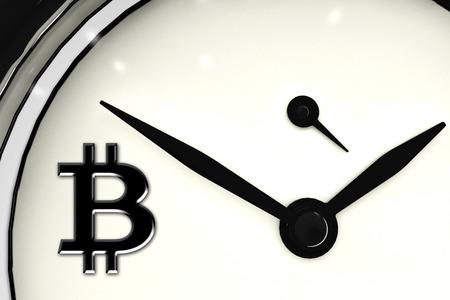 Bitcoin sign digital currency, futuristic digital money, blockchain technology concept background