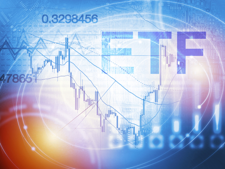 ETF - Exchange Traded Fund. Trade Market ICO IPO Financial Technology Business Investment concept.
