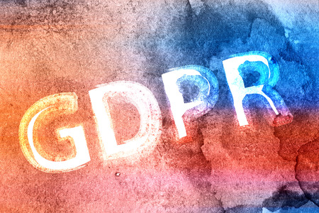 Concept of GRPR - general data protection regulation, abstract background with watercolor background