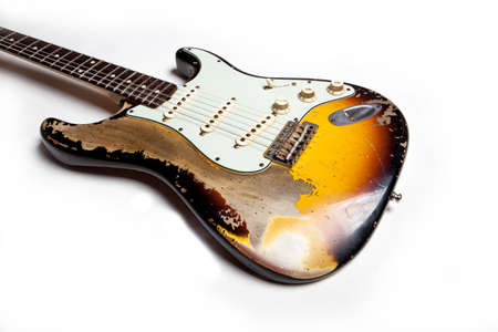 Vintage Heavy Relic Electric Guitar Close up