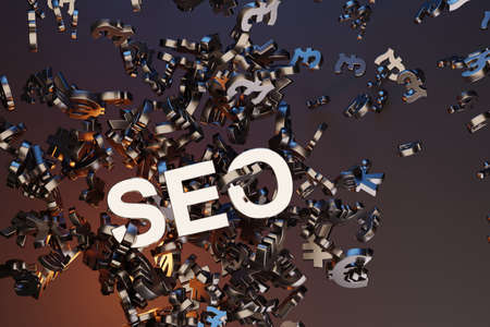 SEO - Search Engine Optimisation concept. 3D rendering