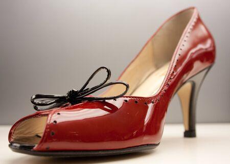 high heeled shoe: Red High Heeled Shoe