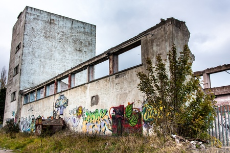 Abandoned Generator House for Hospital Stock Photo - 13225971