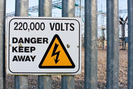 volts: Danger Keep Away 220 thousand volts