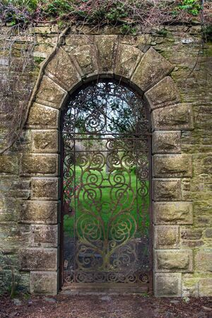 15th century Georgian wrought iron gate photo