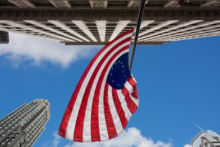US variant Betsy Ross flag in Chicago photo