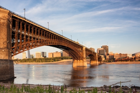 Eads bridge rail road crossing mississippi river at St Louis