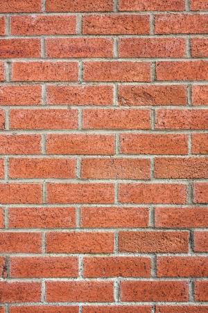 daub: Red brick wall made of red bricks and mortar