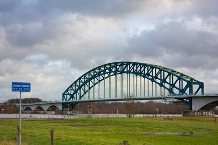 ijssel: Ijsselbrug spanning the river Ijssel at Zwolle in The Netherlands