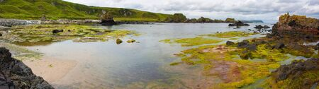 salt marsh: Ballintoy bay in Nothern Ireland small basalt isles and rock formations of various kinds rise out of the atlantic ocean
