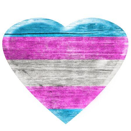 3D Transgender wooden heart Banque d'images