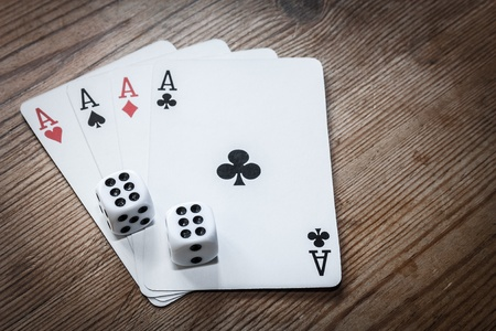 double the chances: Four aces cards and double six dice