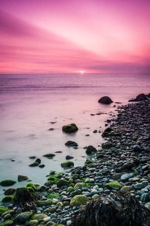 sunup: Beautiful sunrise over the Irish Sea at Bray County Wicklow Ireland