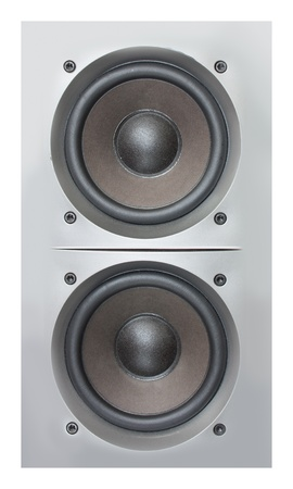 Silver loudspeakers photo