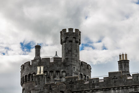 crenellated tower: Detail of Kilkenny Castle