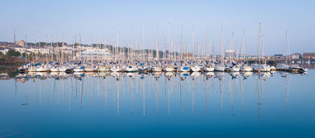 Sailing boats in the Howth marina in the early morning