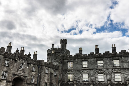 crenellated tower: Section of Kilkenny Castle Editorial