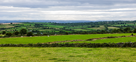 Panoramic view of Kilkenny County in Ireland photo