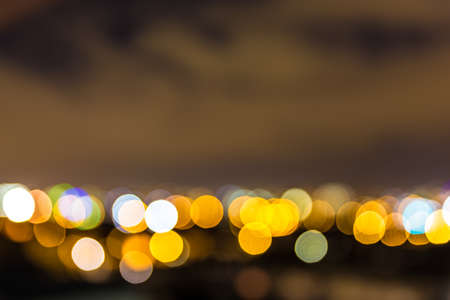 Dublin skyline festive lights in bokeh photo
