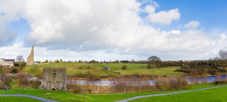county meath: Panorama the famous ruins Yellow Steeple the Mint and Sheeps Gate