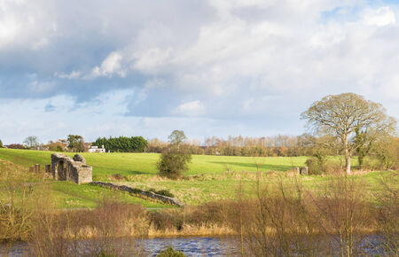 12th century: Sunlight falling on the landscape at Trim Ireland